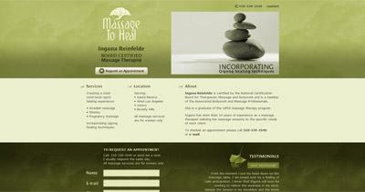 Massage to Heal Website Screenshot