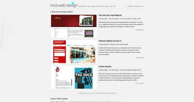 MCB Web Design Website Screenshot