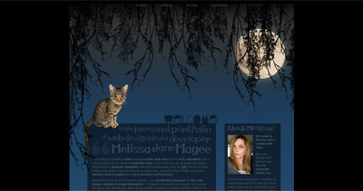 Melissa Jane Magee Website Screenshot