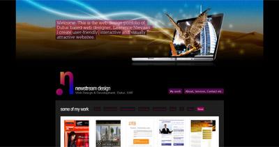 Newstream Design Website Screenshot