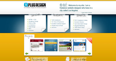 1 Plus Design Website Screenshot