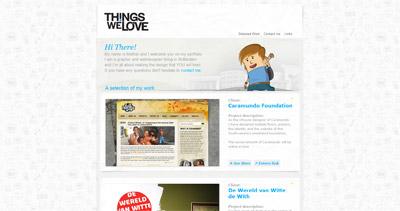 Things We Love Website Screenshot