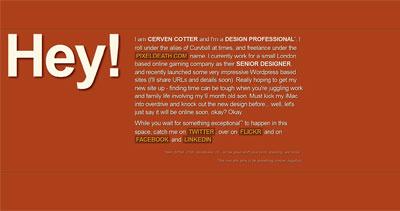 Cerven Cotter Website Screenshot