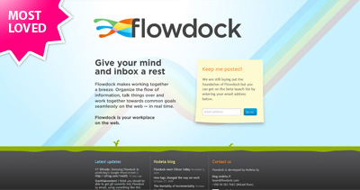 Flowdock Website Screenshot