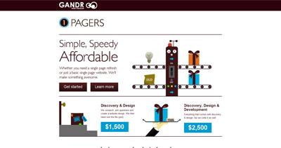 GANDR One Pagers Website Screenshot