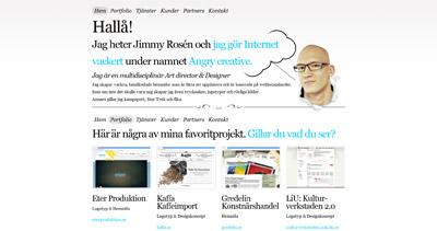 Angry creative Website Screenshot