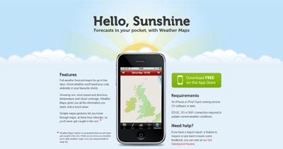 Weather Maps Website Screenshot