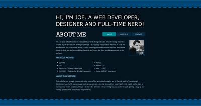 Joe MacDonald Website Screenshot