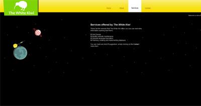 The White Kiwi Website Screenshot
