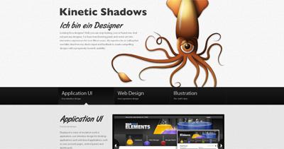 Kinetic Shadows Website Screenshot