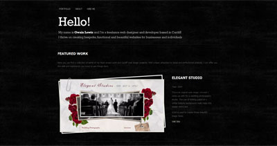 Owain Lewis Website Screenshot