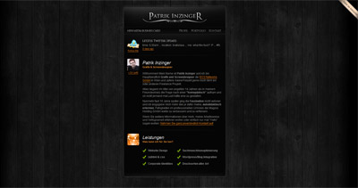 Patrik Inzinger Website Screenshot