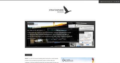 Stratosphere Design Website Screenshot