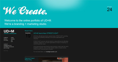 UD+M Website Screenshot