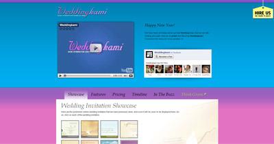 Weddingkami Website Screenshot