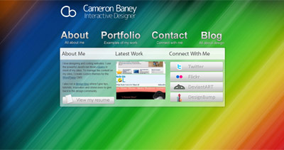 Cameron Baney Website Screenshot