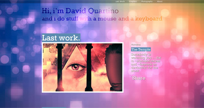 David Quartino Website Screenshot