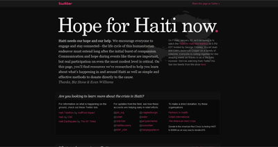 Hope for Haiti now Website Screenshot