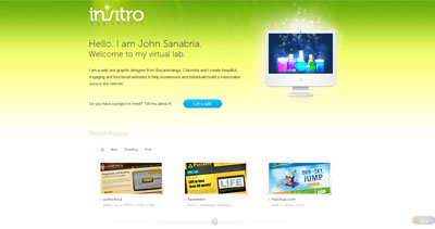 invitro studio Website Screenshot