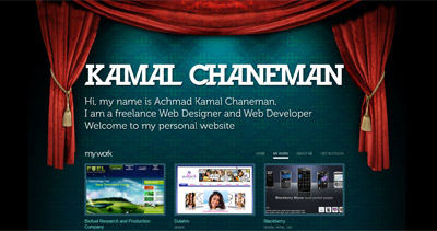 Kamal Chaneman Website Screenshot