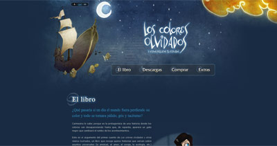 Los colores olvidados Website Screenshot