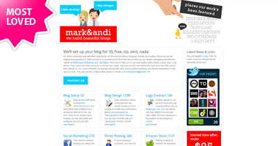 Mark & Andi Website Screenshot