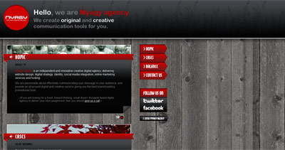 Myagy Agency Website Screenshot