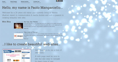 Paolo Manganiello Website Screenshot
