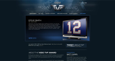 VIZIO TVP Website Screenshot