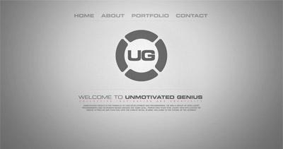 Unmotivated Genius Website Screenshot