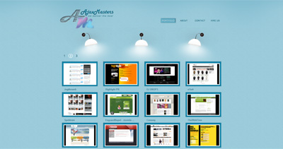 AjaxMasters Website Screenshot
