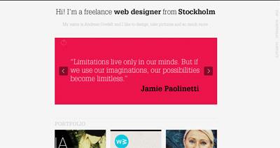 Andreas Ovefelt Website Screenshot