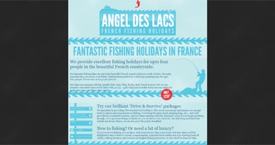 Angel des Lacs Website Screenshot