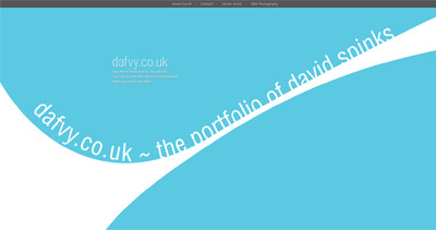 David Spinks Website Screenshot