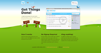 todoTweet Website Screenshot