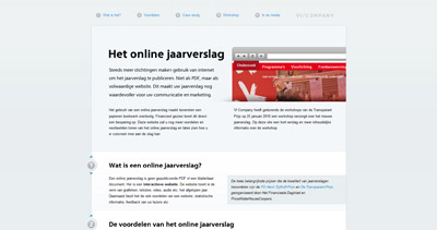Online Jaarverslag Website Screenshot