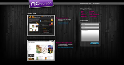 Nic Brunson Website Screenshot
