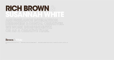 Brown & White Creative Website Screenshot