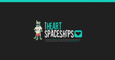 i heart spaceships Website Screenshot