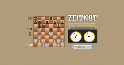 Zeitnot Website Screenshot