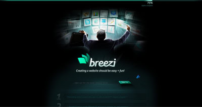 Breezi Website Screenshot