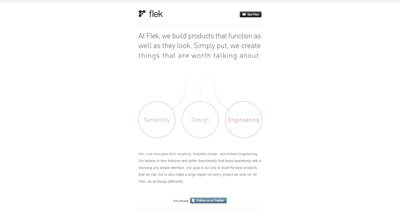Flek Website Screenshot
