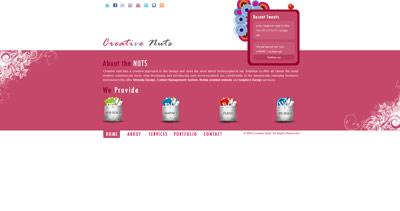 Creative Nuts Website Screenshot
