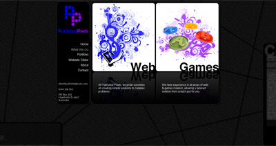 Published Pixels Website Screenshot