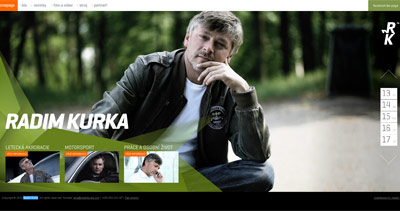Radim Kurka Website Screenshot