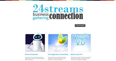 24streams Website Screenshot
