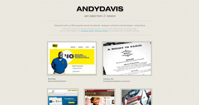 Andy Davis Website Screenshot