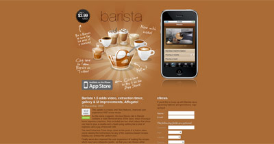 Barista Website Screenshot