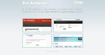 Ben Sampson Website Screenshot