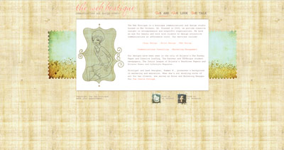 The Web Boutique Website Screenshot